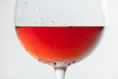 Verre de vin de Frost sur le fond blanc Photo stock