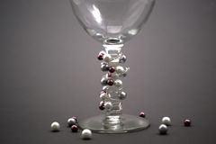 Verre de vin perlé Images libres de droits