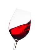 Verre de vin rouge Images libres de droits
