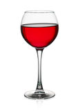 Verre de vin rouge d'isolement sur le fond blanc Photo libre de droits