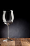 Verre de vin vide photo stock