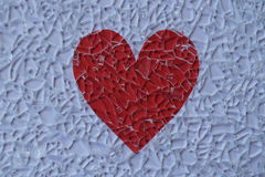 Verre et coeur cassés Image stock