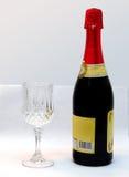 Verre et vin cristal Images libres de droits
