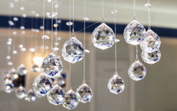 Verre facetté par boules décoratif Images libres de droits