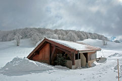 Verre hut. Royalty-vrije Stock Afbeeldingen