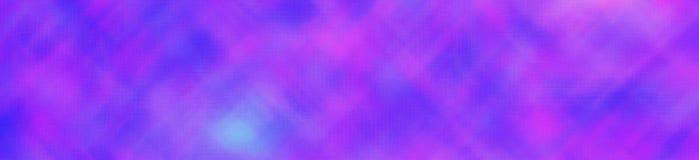Verre minuscule traversant lumineux pourpre et bleu dans l'illustration de fond de forme de bannière photo libre de droits