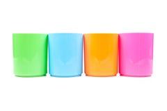 Verre multicolore en plastique photographie stock libre de droits