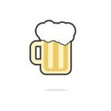 Verre simple d'icône de bière illustration libre de droits