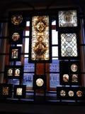 Verre souillé antique ecclésiastique photo stock
