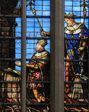 Verre souillé - cathédrale de Bruxelles Photos stock