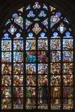 Verre souillé - cathédrale de notre Madame - Anvers - la Belgique Images libres de droits