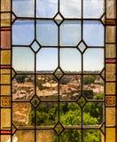 Verre souillé d'Avignon Photos stock