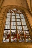 Verre souillé dans la cathédrale d'Anvers Photographie stock