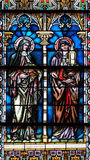Verre souillé dans la cathédrale de Saint-Nicolas en Novo Mesto, Slovénie image stock