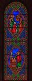 Verre souillé dans le saint Nicholas Cathedral Monaco Ville Image stock