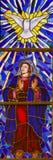 Verre souillé de mère Mary et le Saint-Esprit à Madrid Cathe Photo stock