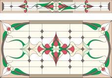 Verre souillé en style d'Art Deco/résumé floraux, technique de Tiffany Vecteur illustration libre de droits