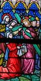 Verre souillé - Jésus et le voile du Veronica photographie stock libre de droits