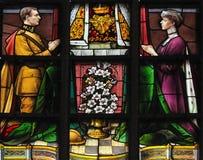 Verre souillé - le Roi Albert ' et Reine Elisabeth de la Belgique Photos libres de droits