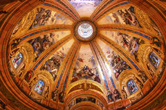 Verre souillé San Francisco el Grande Madrid Spain de dôme Photographie stock