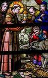 Verre souillé - St Anthony de Padoue photographie stock libre de droits