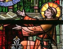 Verre souillé - St Anthony de Padoue image stock