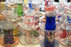 Verre traditionnel turc de thé Images libres de droits