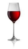 Verre transparent de vin rouge Photo stock
