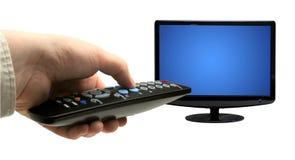 Verre TV royalty-vrije stock foto