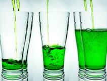 Verre vert Images libres de droits