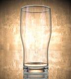 Verre vide de bière photo stock