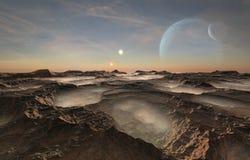 Verre vreemde planeet royalty-vrije stock foto's