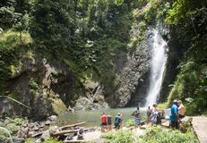 Verre Waterval: Suva, Fiji royalty-vrije stock foto's