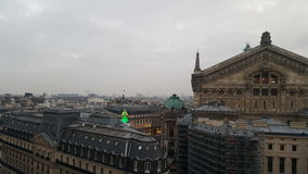 Verrekijkers de Met munten van de Mening van Parijs omhoog hoog over Parijs in Frankrijk Royalty-vrije Stock Afbeeldingen