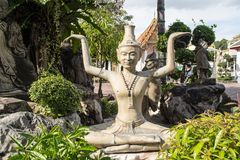 Verrenkung bei Wat Pho in Bangkok Thailand Stockfotografie