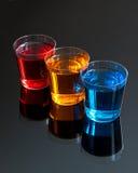 Verres à liqueur abstraits image stock