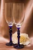 Verres à vin Photo stock