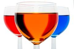 Verres à vin photographie stock libre de droits