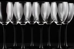 Verres à vin Photographie stock