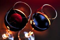 Verres à vin Photo libre de droits
