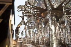 Verres à vin en cristal Image libre de droits
