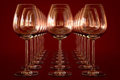 Verres à vin vides Images libres de droits