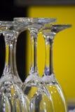 verres alignés Images stock