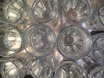 Verres avec de l'eau Photographie stock libre de droits