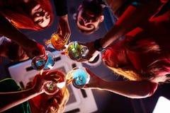 Verres avec des cocktails Photo libre de droits