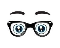 Verres avec l'icône de yeux Photos stock