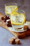 Verres avec la limonade froide Photo libre de droits