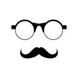 Verres avec la moustache Photo stock