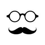 Verres avec la moustache Image stock