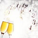 Verres avec le champagne Photos stock